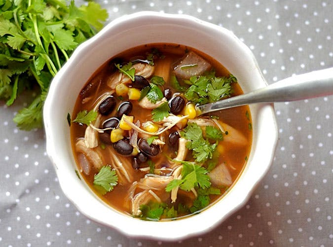 BBQ Chicken and Black Bean Soup