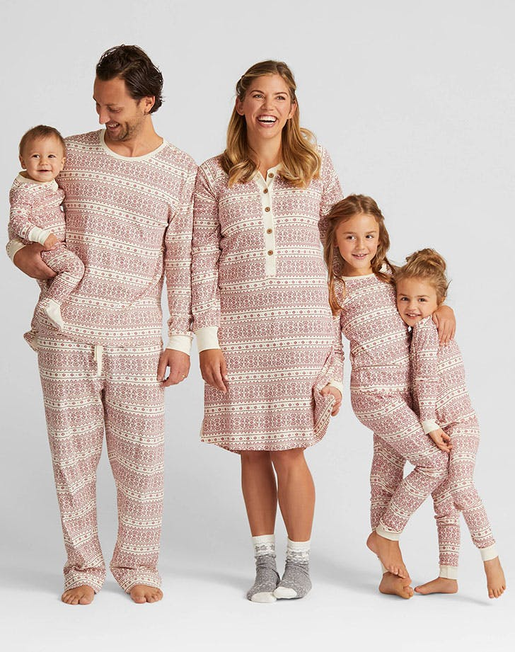 Burts Bees Fair Isle Family Pajamas Collection