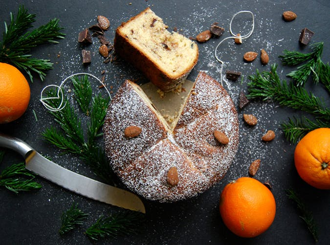 Chocolate Christmas Pannettone bread dessert recipe