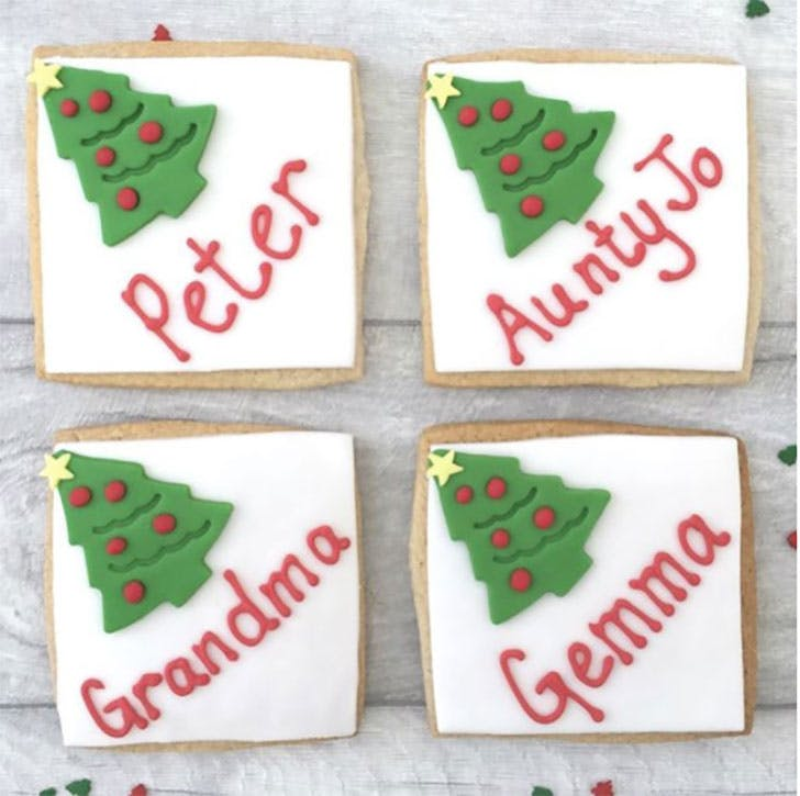 Christmas cookie place cards