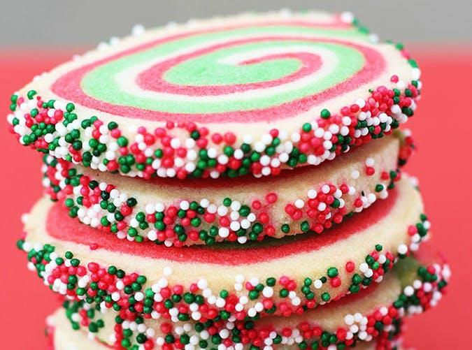 Christmas Swirl Sugar Cookies recipe