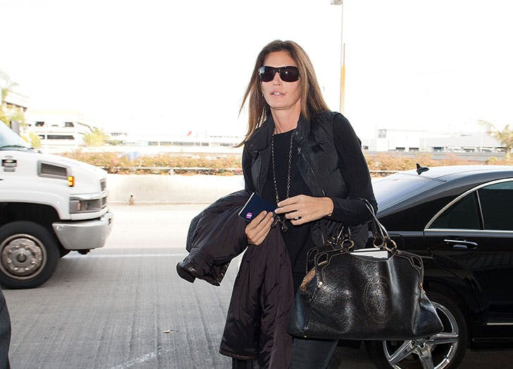 Cindy Crawford at airport