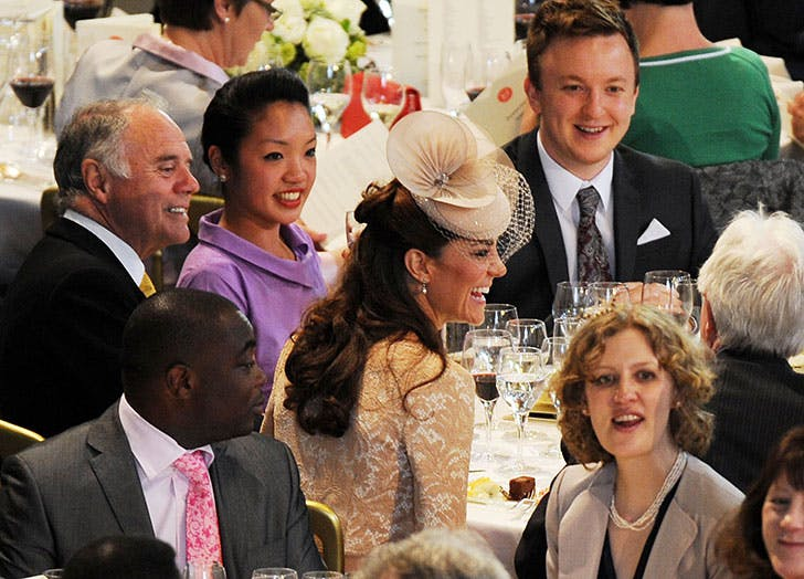 Duchess of Cambridge laughs during the Queen s Diamond Jubilee Lunch in Westminster Hall