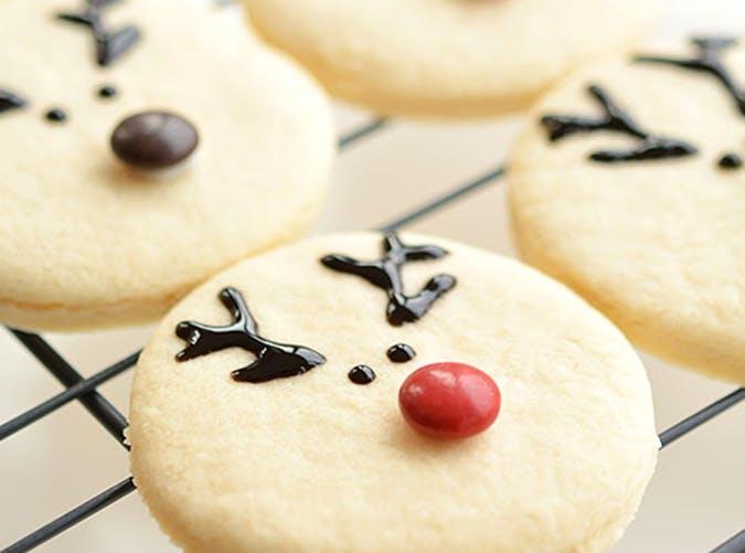 Easy Reindeer Sugar Cookies recipe
