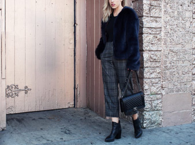 Faux Fur Jacket Style Upgrade on a Budget