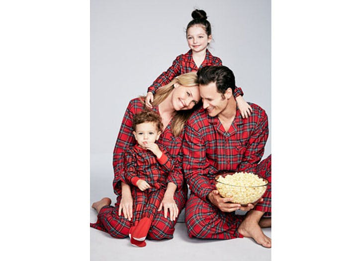 Holiday Plaid Family Pajamas Set