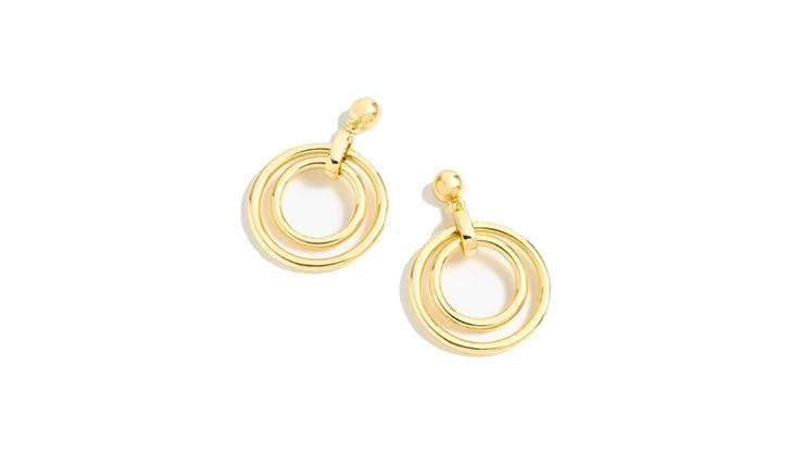 J.Crew Double Hoop Earrings