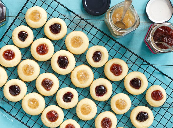 Jam Filled Thumbprint Cookies recipe