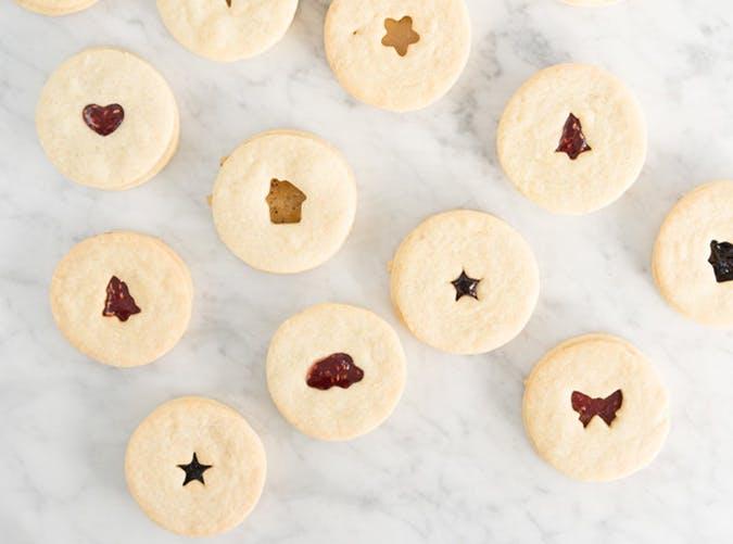 Jam Sandwich Cookies with Homemade Raspberry Jam recipe