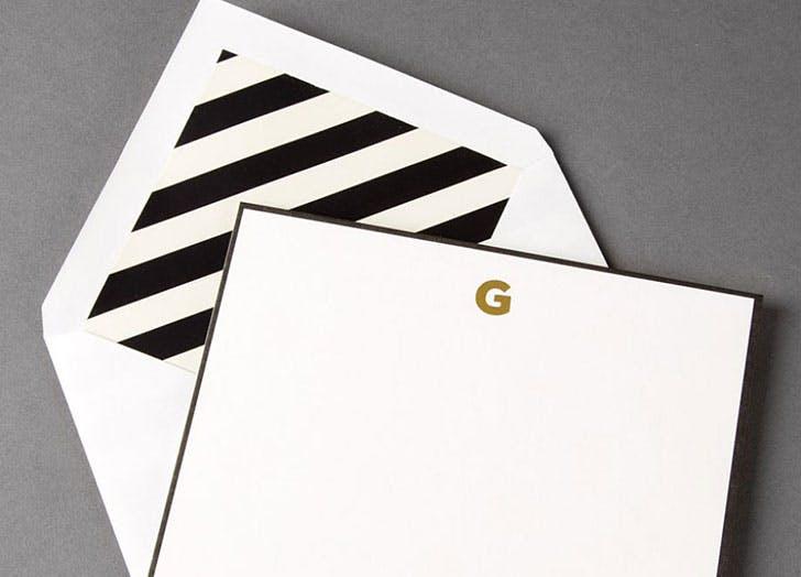 Kate Spade Monogrammed Correspondence Cards