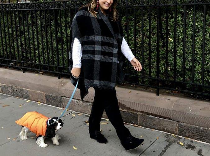 Katie Sturino Blanket Scarf Style Upgrade on a Budget