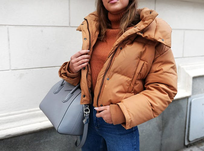 Kenzas Cropped Puffer Style Upgrade on a Budget