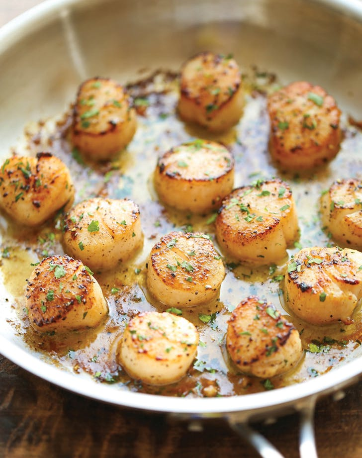 Lemon Butter Scallops holiday seafood recipe