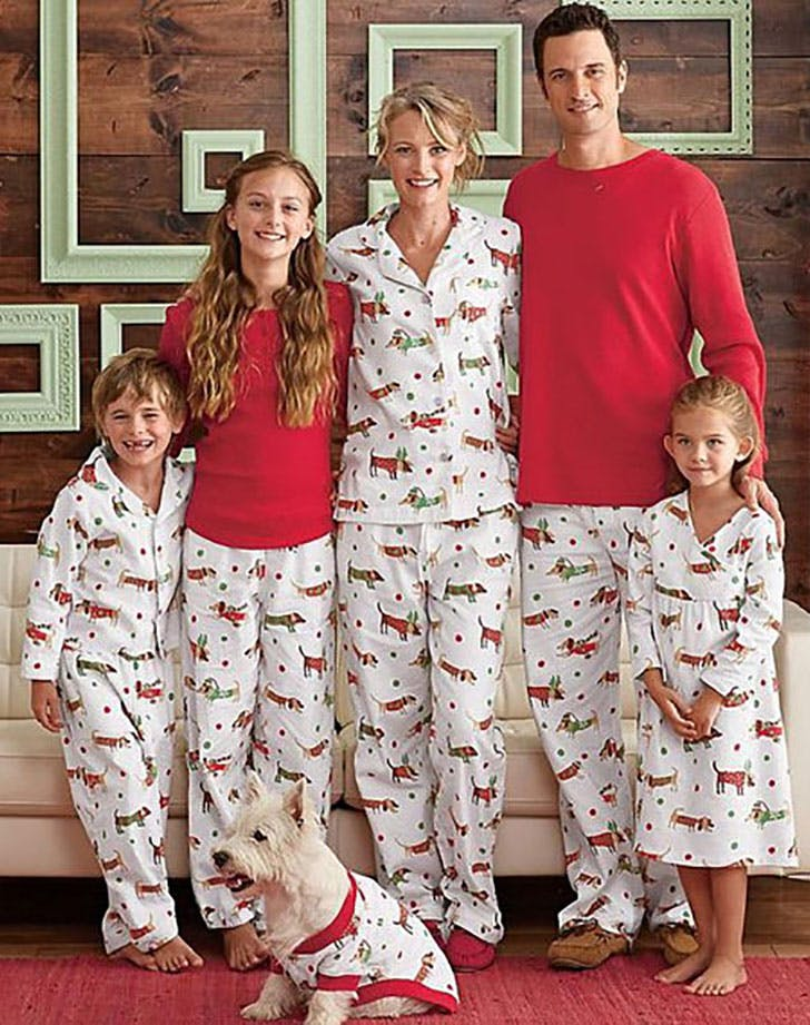 Matching family Christmas dog pajamas