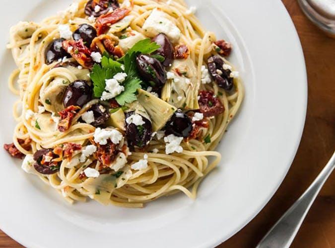 Mediterranean Pasta 15 minute recipe