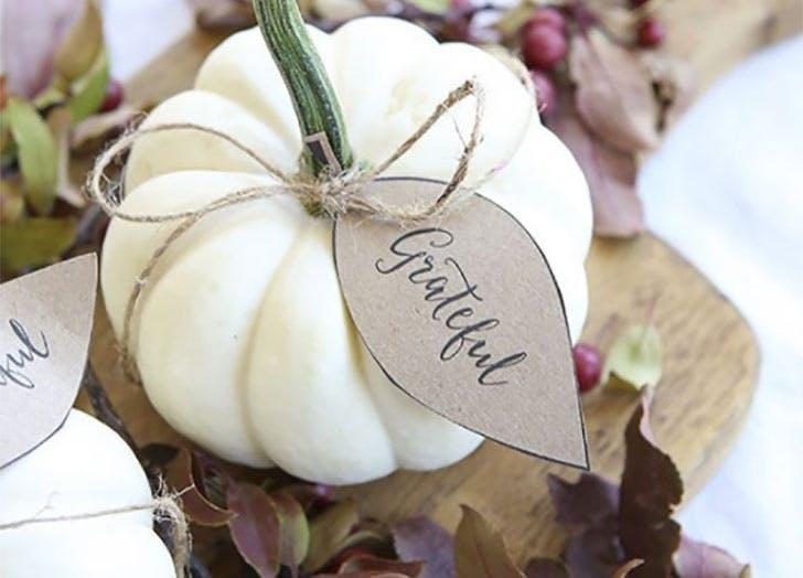 Mini Pumpkins DIY Thanksgiving Place Cards1