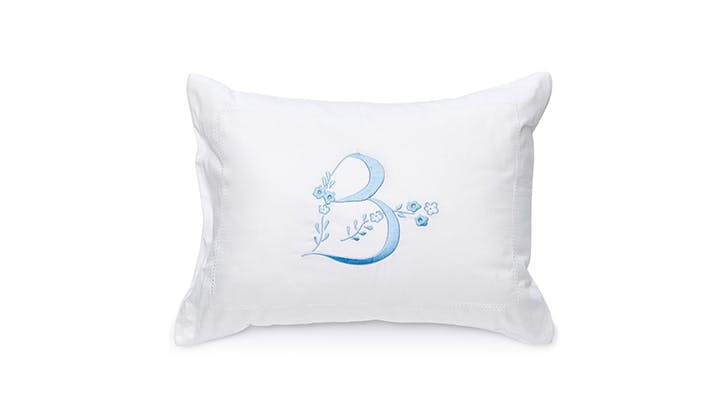Moda Operandi Monogrammed pillowcase