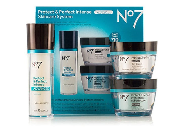 No7 Protect and Perfect Intense Skincare System gift set