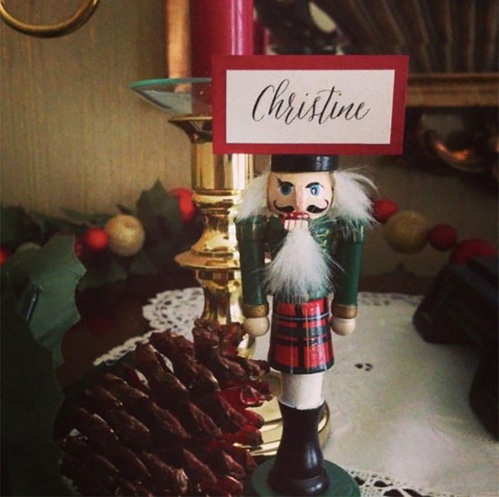 Nutcracker Christmas place card idea