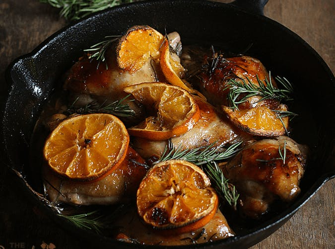 Orange Rosemary Chicken Thighs holiday recipe