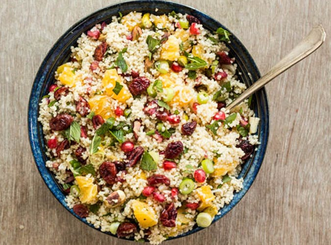 Orange  Pistachio and Pomegranate Couscous big batch recipes