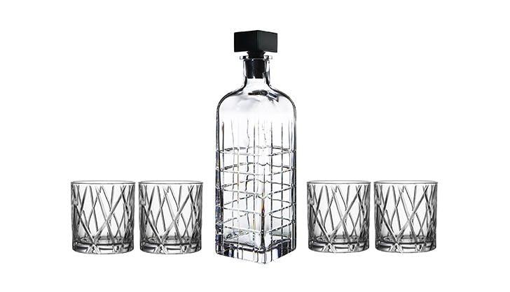 Orrefors Kosta Boda Decanter and Glass Set