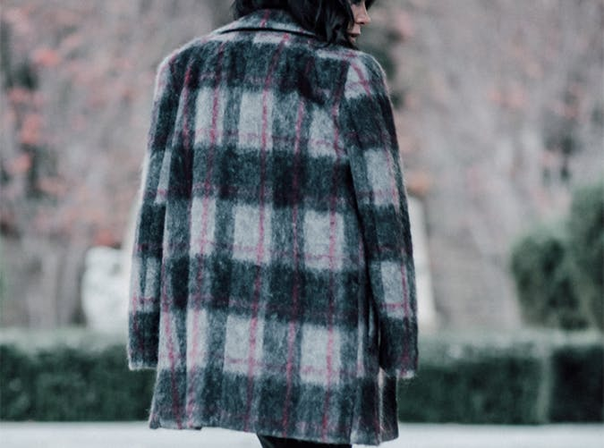 Plaid Overcoat Style Upgrade on a Budget
