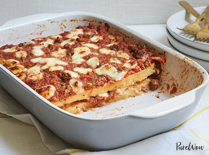 Polenta Ragu Casserole big batch recipes
