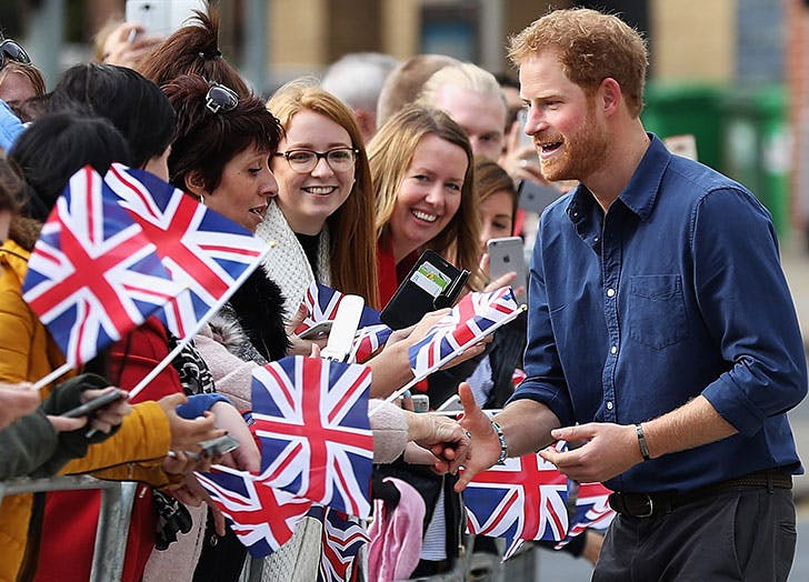 Prince Harry meets the crowd