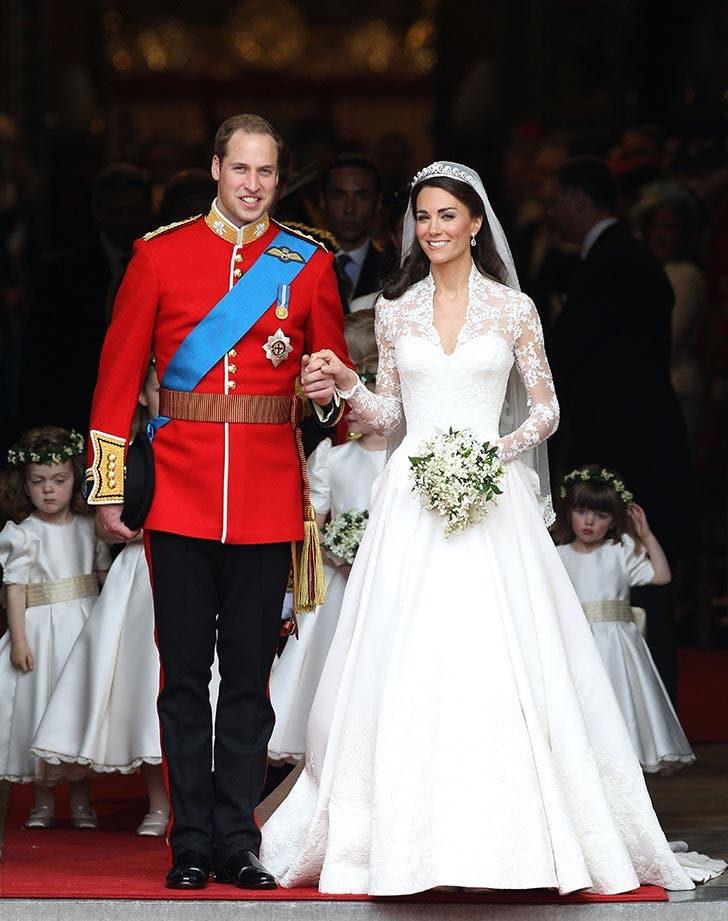 Prince William  Duke of Cambridge and Catherine  Duchess of Cambridge on their wedding day at Westminster Abbey
