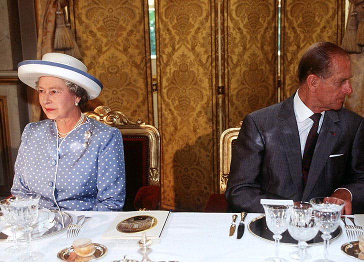 Queen And Prince Philip At A Formal Luncheon In Paris During An Official Visit