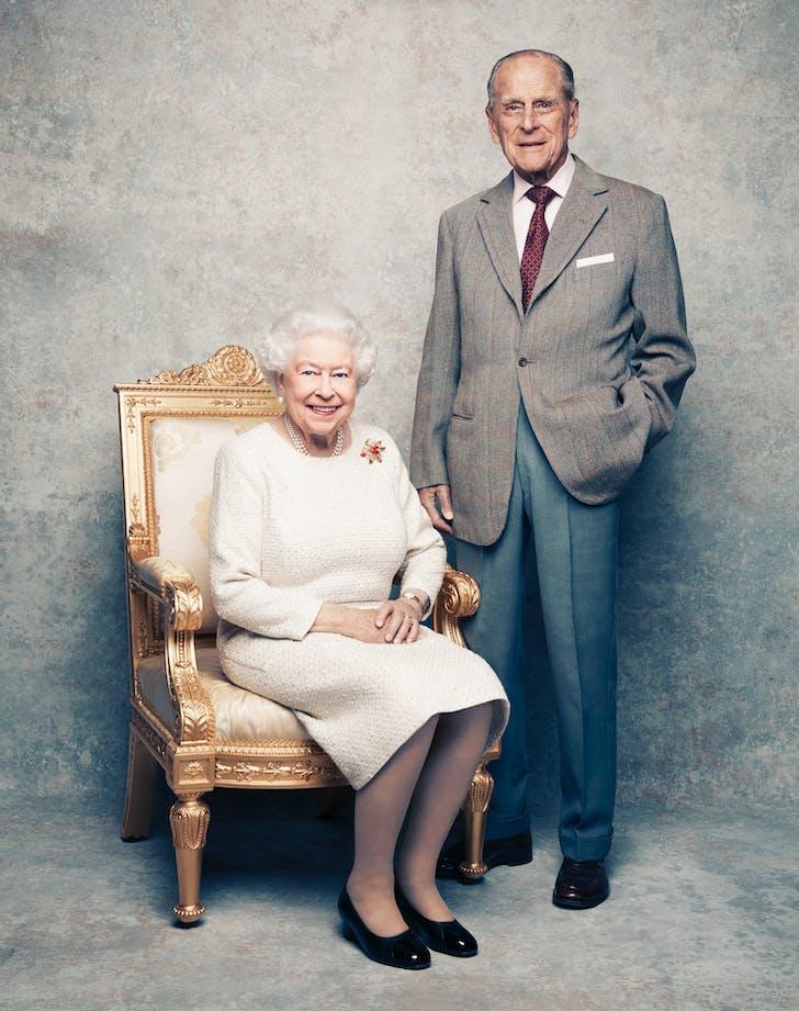 Queen Elizabeth Prince Philip 70 platinum wedding anniversary smiling