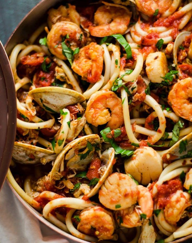 Seafood Fra Diavolo holiday seafood recipe