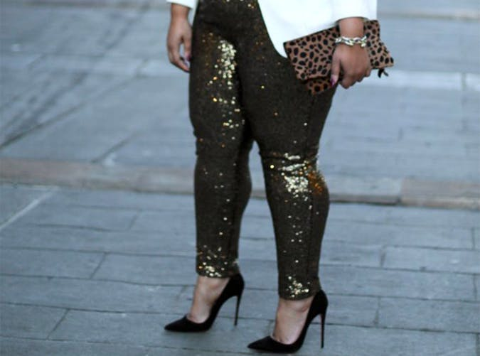 Sequin Leggings Style Upgrade on a Budget