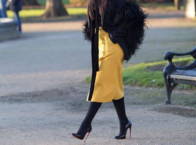 Silk Bold Midi Skirt Style Upgrade on a Budget