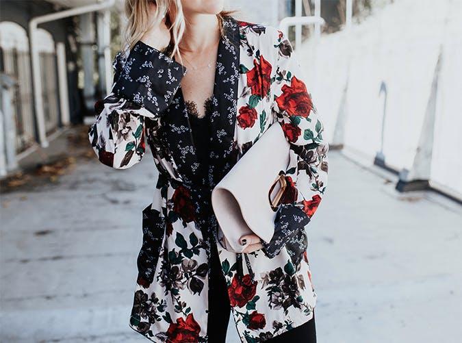 Silk Floral Kimono  Style on a Budget