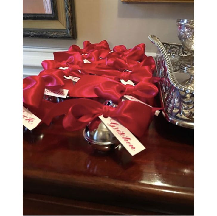 Silver Bells Christmas Place Cards