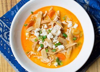 Slow Cooker Buffalo Chicken Soup 400