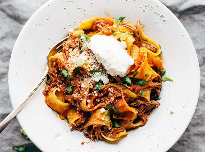 Slow Cooker Beef Ragu with Pappardelle big batch recipes