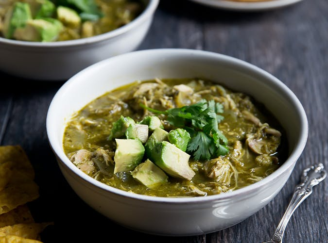 Slow Cooker Chicken Chile Verde ketogenic slow cooker recipes