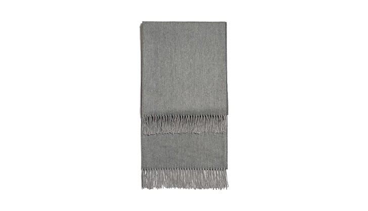 Snowe Fringed Throw Blanket