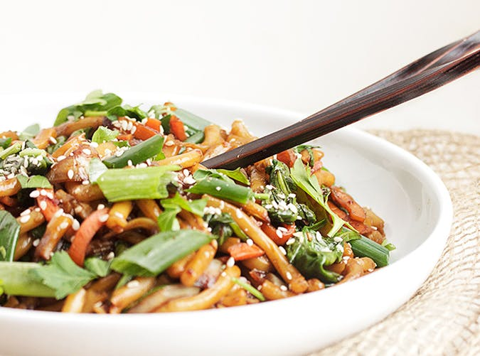 Spicy Udon Stir Fry 15 minute pasta recipe
