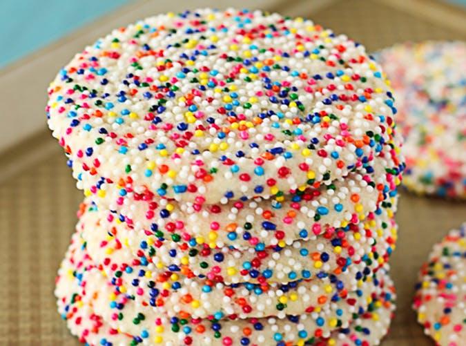 Sprinkled Sugar Cookies recipe