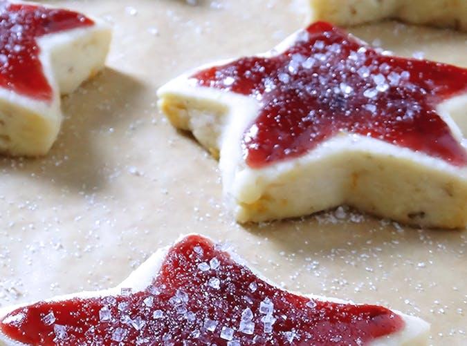 Sugar Plum Shortbread Christmas Cookies recipe