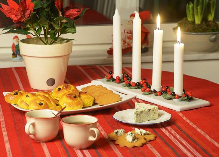 Swedish Christmas traditional advent celebration