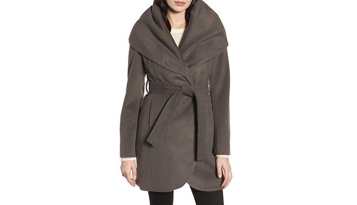 Tahari Belted Wrap Coat