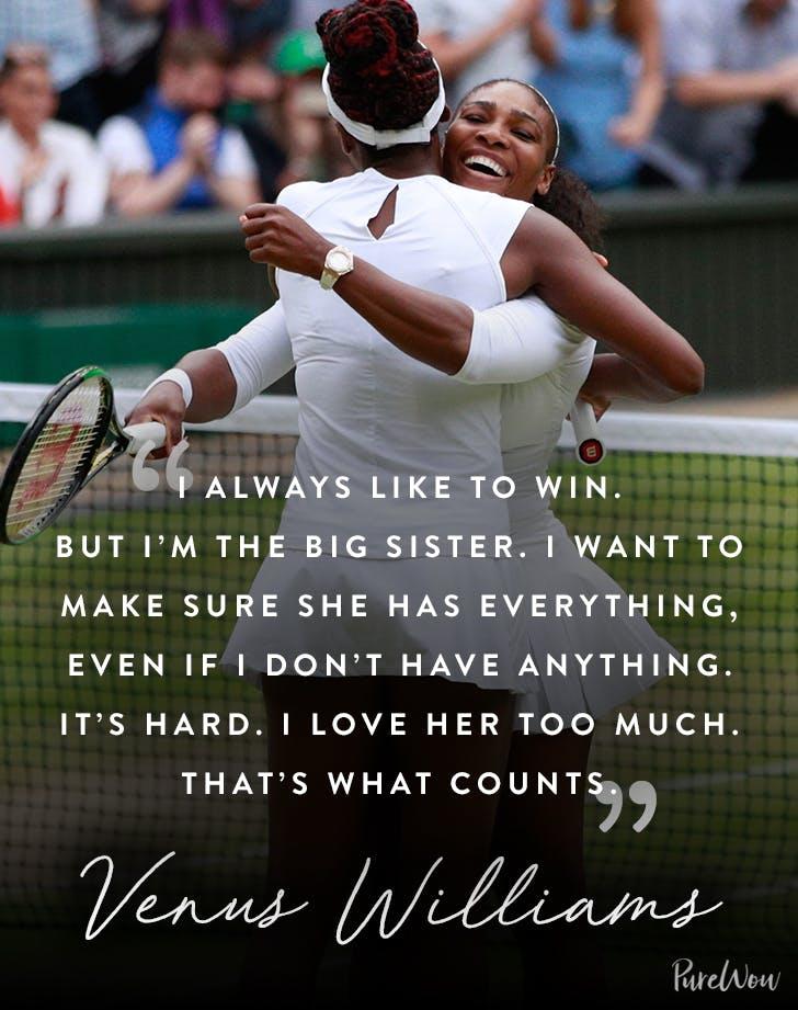 Venus William sister quote