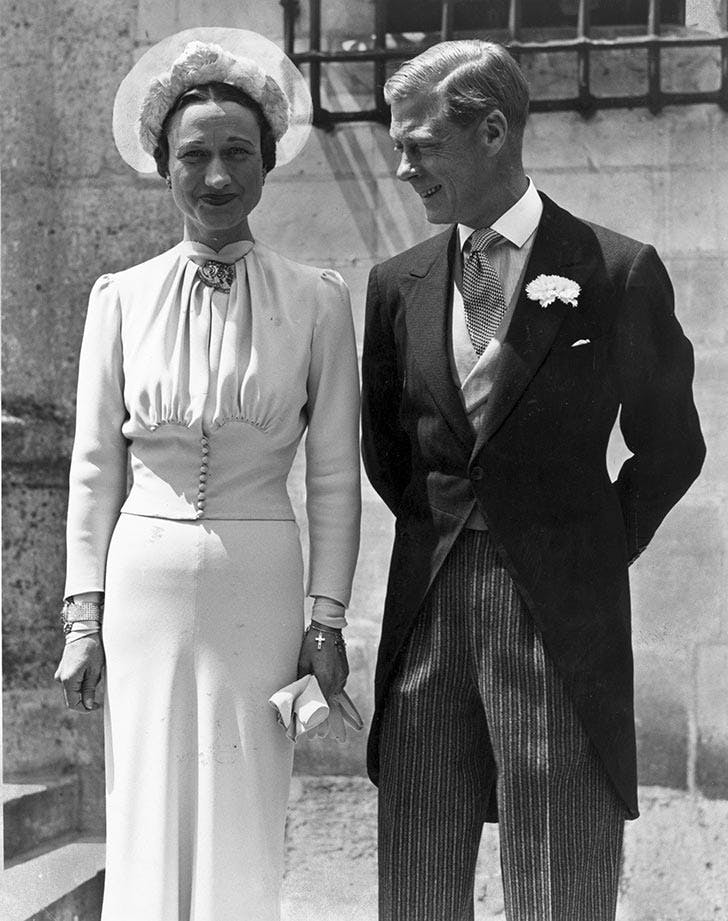Wallace Simpson and the Duke of Windsor wedding