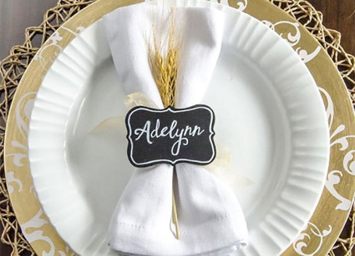 Wheat Straw DIY Thanksgiving Place Cards