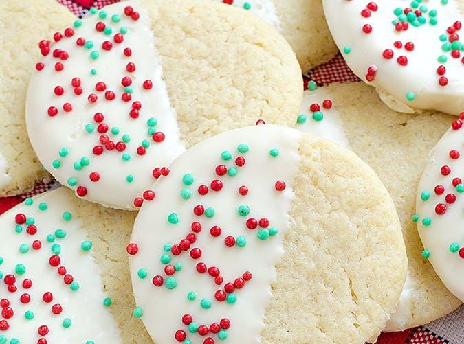 White Chocolate Dipped Sugar Cookies recipe